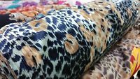 NEW* soft and flowy burnout velvet Tiger print fabric 54''wide