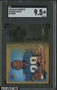 1998 UD SP Authentic Future Watch Fred Taylor Jaguars RC Rookie /2000 SGC 9.5