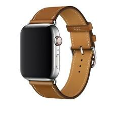 Apple Watch Series 4 40mm GPS Space Gray Aluminum & Ceramic Case w/ Leather Band
