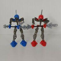 Lego Bionicle - 2 GEARED ROTATING TORSOS! Blue, Red, Gray - AS SHOWN - BFA13