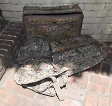 Faberge Luggage Set 4 Pieces Suitcase Suit Bag Carry On Weekender Floral