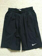 Nike Dri-Fit Black Classic Fit Long Lightweight Shorts Size S Elastic Waist