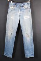 VTG 80s LEVI'S XX 501 Button Fly Distressed Denim Jeans USA Size 31x36 (29x32)