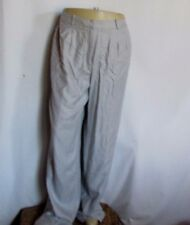 New NWT tags Talbots silk pleated lined blue gray pants 16 tall long 36w $100 +