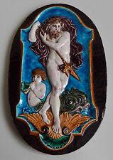 Bordeaux, Deck, Lachenal ? Plaque en faïence représentant Neptune, XIXe siècle