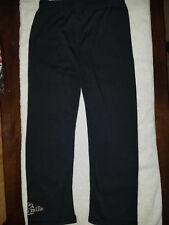 Women's - Classic Stretch Capri Length Pull-on Leggings in Black ONE SIZE SML