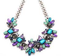 Fashion Women Crystal Choker Collar Chain Pendant Statement Bib Charm Necklace