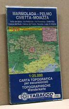 MARMOLADA-PELMO-CIVETTA-MOIAZZA [carta topografica per escursionisti,ed.tabacco]