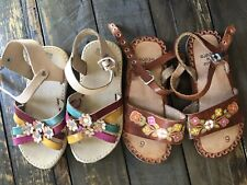 Hurraches Lot Little Girls Size 9 From Mexico Sandals