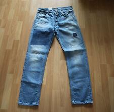 NEU Nudie Jeans Steady Eddie (Straight Fit) Organic INDIGO PATCHED 32/32