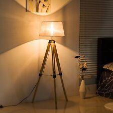 Lámpara de pie de interior para el comedor de madera | eBay