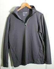 Men's Reebok Pullover 1/4 Zip Long Sleeve Performance Charcoal Sz S
