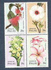 Palau 59-62 (62a) Christmas Flowers Block Of 4 Mint/nh Free Shipping