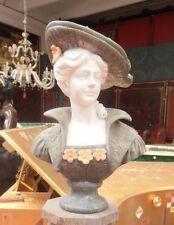 Dama con cappello mezzo busto marmo
