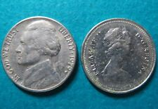 Lot of 2 1979 US/CANADA 5 CENTS COINs>1979 Lot of 2 US/CANADA 5 CENTS COINs #4