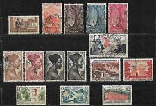 Lot de 15 timbres - Afrique Equatoriale Française - Oblitérés - Classiques (2)