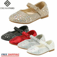 Infant//Toddler GINFIVE Baby Girls Prewalker Shoes Mary Jane Flats First Walkers Princess Dress Shoes
