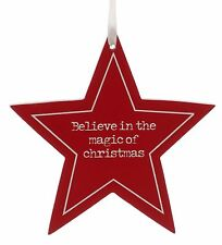 Believe in the Magic of Christmas Star Hanging Ornament NEW  25447