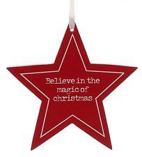 Crediamo nella magia di Natale STELLA DA APPENDERE Ornamento Nuovo 25447