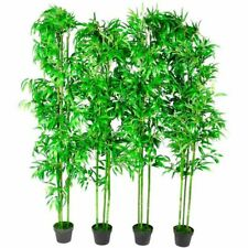 """Home 4Pcs Bamboo Artificial Home Decor 75"""" Arrangement Office Fake Tree Potted"""