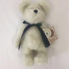 "Boyd's Tj's Best Dressed White BearWish Ribbon Bow Bear ~8.5"""