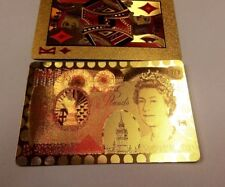 24K Gold Plated Playing Cards Poker Game Deck ,Great fun.