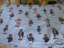 RALPH LAUREN Polo Bear Stripe Twin Reversible Comforter RARE BLUE LABEL EUC