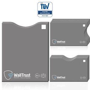 RFID & NFC Blocking Schutzhülle Set für Kreditkarten Reisepass *TÜV* 12X
