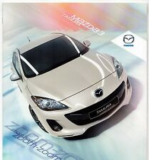 Mazda 3 Tamura Hatchback Limited Edition 2011-12 UK Market Sales Brochure
