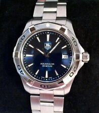 2015 Tag Heuer Aquaracer Mens Watch WAP1112 Excellent Condition Rare Blue Dial