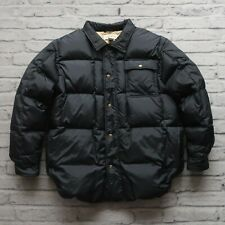 Orvis Quilted Down Shirt Jacket Size L Navy