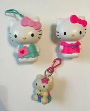 Lot Of 3 Hello Kitty Figures Figurines Keychain Clips