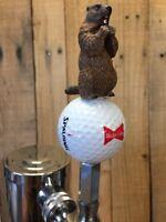 Caddyshack Golf TAP HANDLE Budweiser Bowtie logo Gopher Beer Keg Mini Knob Pull