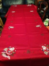 Broderie table napperons Noël Nappe Bougie moyens Couverture Lin 85x85cm