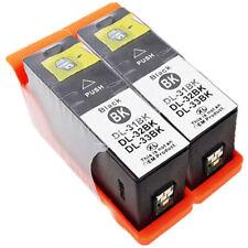 2-Pk/Pack Serie 31 32 33 34 High Yield Black Ink Cartridges For Dell V525 V725w