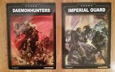 WARHAMMER 40K Codex Books (2) GW/BL Imperial Guard & Daemonhunters COLLECTIBLES!