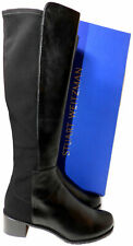 $665 Stuart Weitzman Halfback Boots 5050 Knee High Boot Black Leather 9.5