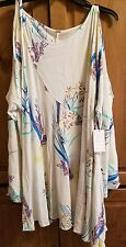 FREE PEOPLE CLEAR SKIES PRINTED TUNIC NEUTRAL SIZE L NWT