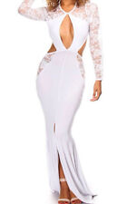Abito aperto Nudo aderente Pizzo Cerimonia Cocktail Party Cut-out Maxi Dress