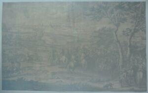 Large Copper Engraving - LE SIEGE DE MAASTRICKT by Van Der Meulen in 1673