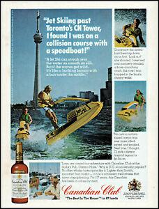 1975 Jet Skiing Toronto CN Tower Canadian Club whisky retro photo print ad ads5