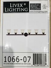 Livex Lighting 6-Light Bronze Light w/White Alabaster Glass 1066-07 *
