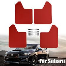 For Subaru Impreza WRX STI RX Legacy Mud Flaps Splash Guards Mudguards Red 4Pcs