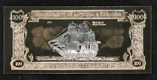 Antigua & Barbuda $100 -23KT GOLD NOTE -Black Bart's Royal Fortune -Scarce -NCC