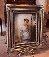 PORTRAIT . d'après Bouguereau+cadre bois