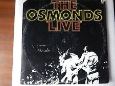 "OSMONDS ""LIVE'' MGM 1972 2SE-4826 [SPECIAL 2-RECORD SET]  GATED  VINYL LP"