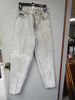 Vintage Lee Jeans Womens Stone Gray Tapered Leg Junior Size 11 M Made USA