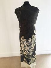 Printed Lilies on Stretch Heavy Mesh Metallic Jersey Dressmaking Fabric Offcut