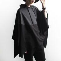 Men's Jacket Hooded Sweater Poncho Jumper Cloak Cape Casual Fashion Loose Coat