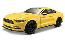 2015 Ford Mustang GT 5.0 Yellow 1/18 by Maisto 31197 Metal Die Cast Car Steering